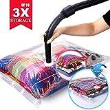 sac rangement sous vide aspirateur /voyage /vetement ,extra-larges Jusqu'à 3 fois le...