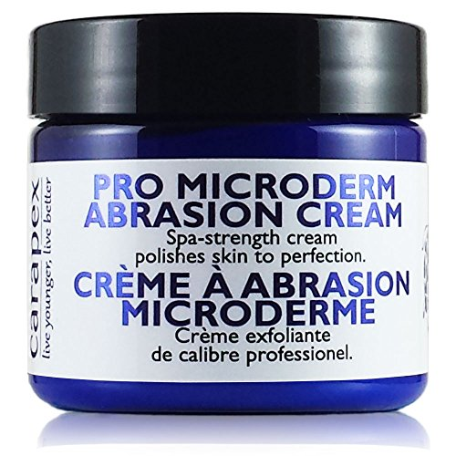 Carapex Microdermabrasion Cream, Exfoliating Crystals for Face or Body to Reduce Wrinkles, Blackheads, Acne Scars, Stretch Marks - Gentle for Sensitive, Oily, Combination Skin, 2oz