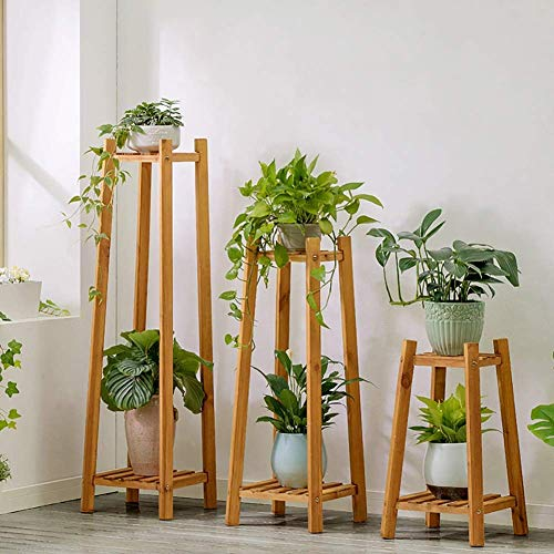 Wghz Suelo de Madera Maciza de múltiples Capas Marco Decorativo Soporte de exhibición de Flores Soportes de Plantas Soporte de macetas Estante de Soporte de Plantas