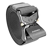 JUKMO Tactical Belt, Military Style Rigger 1.5 Inches Nylon Webbing Belt...