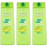 Garnier Fructis Haircare - Daily Care - 2 in 1 Shampoo & Conditioner - With Grapefruit - Net Wt. 12.5 FL OZ (370 mL) Per Bottle - Pack of 3 Bottles