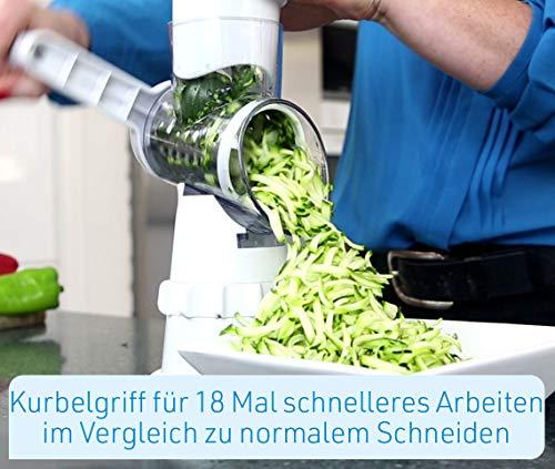 Mediashop Livington Sumo Slicer | 3 in 1 Trommelreibe – zum Raspeln, Schneiden, Reiben | Fixierfunktion | Multiraffel | Reibemaschine | Gemüseheobel |Mühle | Gemüseschneider | Das Original aus dem TV - 2