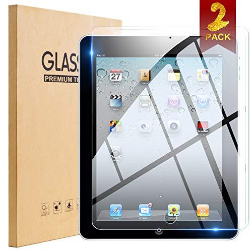iPad 2 / iPad 3 / iPad 4 Glass Screen Protector,[2 Pack]TopEsct Tempered Glass Screen Protector For (Oldest Models) iPad 2nd/3rd/4th Generation,9H Hardness,2.5D Edge,Ultra Clear,Anti-Scrat(iPad 2/3/4)