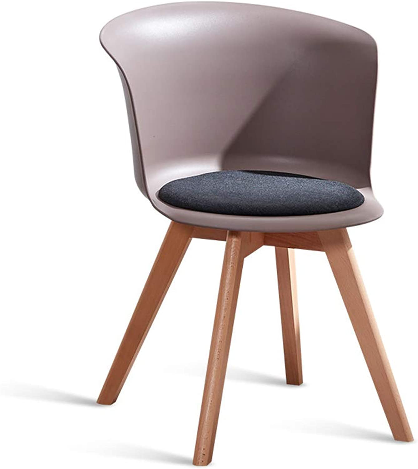 Simple Modern Style with Backrest Wood Bracket Bar Chair Stool Coffee Shop Leisure Chair for Dining Room bedrooms,Brown