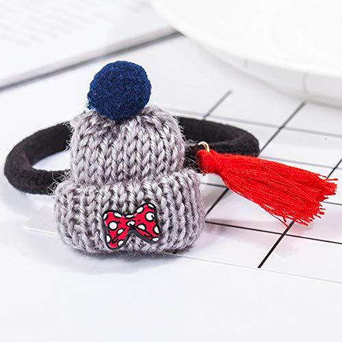 Bubbry haarband met comic-motief, letter van fruit, elastisch, haarband, stropdas, Burger16010176