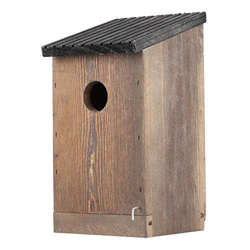 Wooden Hanging Bird House Feeder Bird Parrots Nesting Box Outdoor Garden Decor