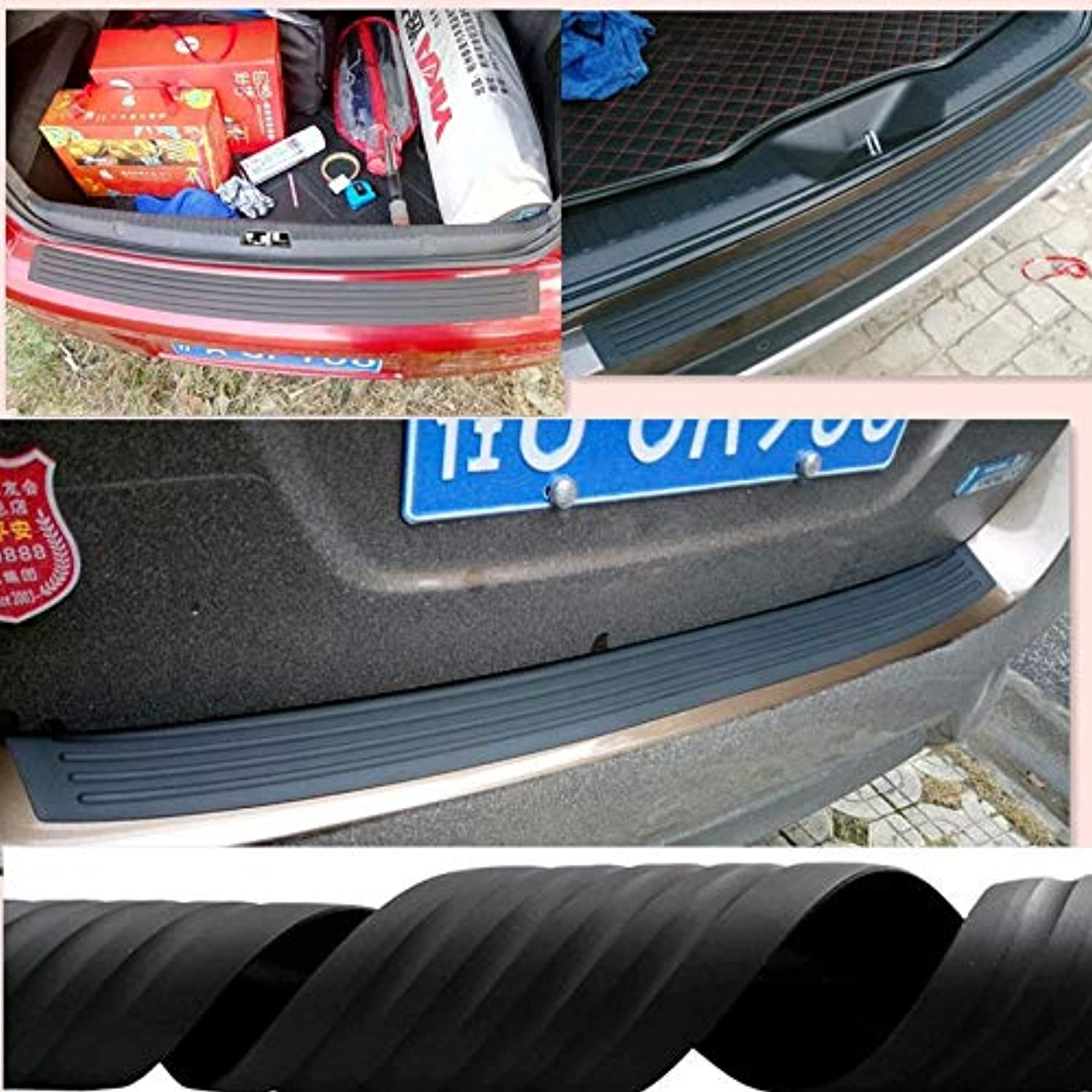 Car Styling Rear Predection Rubber Sticker for Toyota Cgoldlla RAV4 Yaris Honda Civic Accord Fit CRV Nissan Accessories