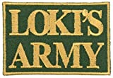 Loki's Army Patch Iron On Applique - Olive Green, Nonmetallic Champagne Gold, 2' x 3' Rectangle - Made in The USA