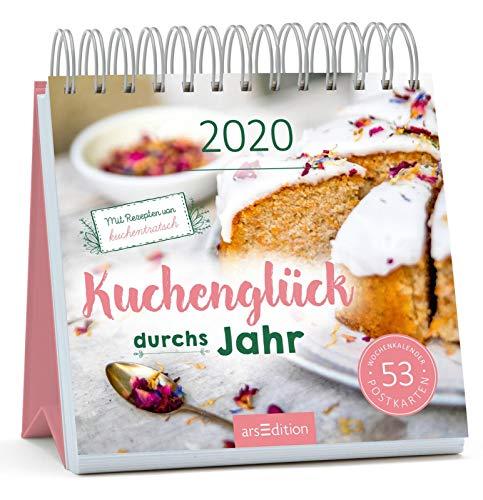 Postkartenkalender Kuchenglück durchs Jahr 2020 - Wochenkalender mit abtrennbaren Postkarten und Rezepten von Kuchentratsch: Ein ideales Geschenk für alle, die Kuchen lieben und gerne selber backen