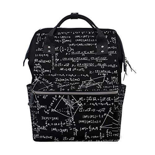 Casual Travel Daypack Math Formula Backpack for School Stylish College School Backpack Lightweight Packable Backpack,Large Capacity,Multipurpose,Stylish and Durable