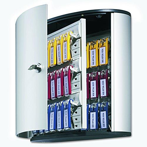 DURABLE Key Box with Key Lock, Holds 36 Key Tags, 11-3/4 x 4-5/8 x 11 Inches, Brushed Aluminum (195223 ) Photo #10