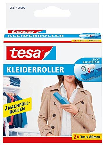 tesa Kleiderroller Nachfüllpackung, 2 x 3 m x 80 mm