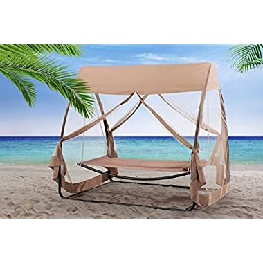 Sunjoy Hammock Chair with Canopy & Netting
