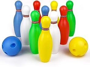 Symiu Juegos Bolos Infantiles Bowling Set Juegos ExteriorJuguetes Educativos para Niños 3 4 5 Años con 10 Bolos y 2 Bolas