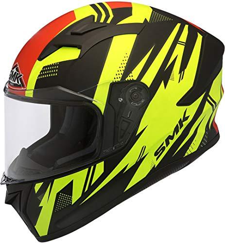 SMK Helmets - Stellar - Trek - Black Yellow Red - Pinlock...
