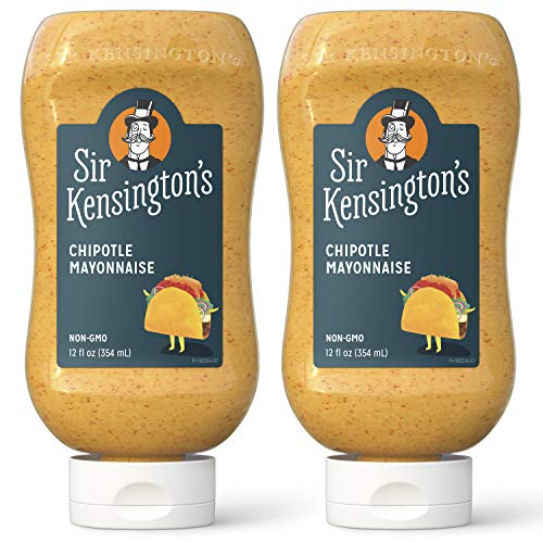 Sir Kensington's Mayonnaise, Chipotle Mayo, Gluten Free, Non- GMO Project Verified, Certified Humane Free Range Eggs, Shelf-Stable, 12 oz (Pack of 2)