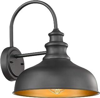 Bestshared Farmhouse Gooseneck Barn Light, Outdoor Wall Sconce, 1-Light Outdoor Black..
