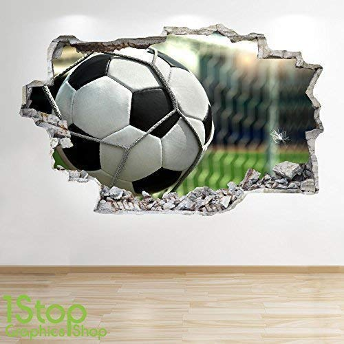 1Stop Graphics Shop FOOTBALL STADIUM WALL STICKER 3D LOOK - BOYS KIDS BEDROOM WALL DECAL Z531 Size: Large