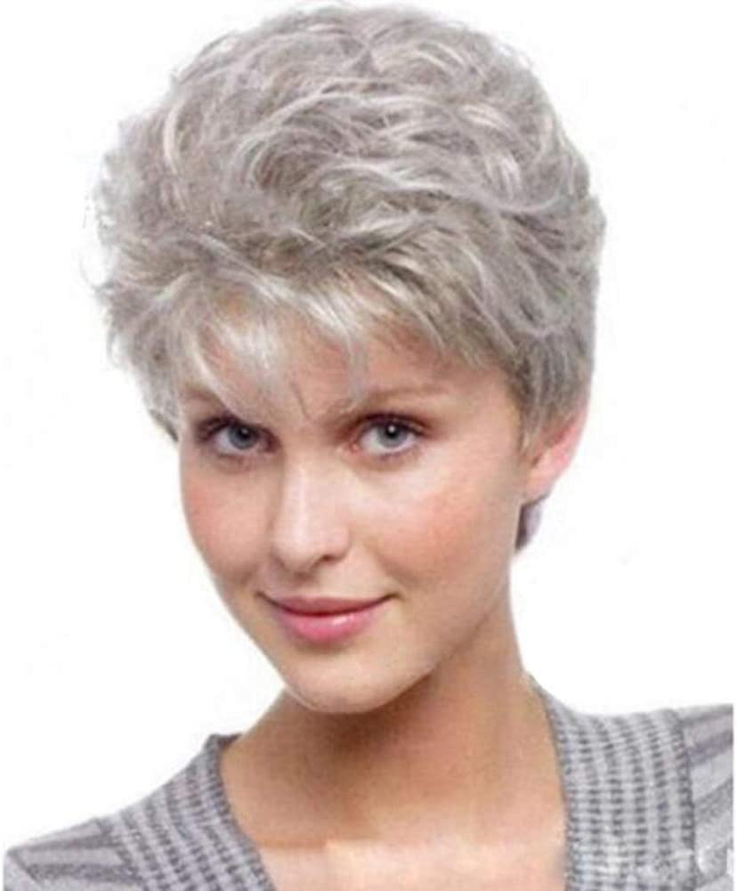 Ffwigs Ombre Bob Gray Short Hair Synthetic Wigs Beautiful Short Gray Wigs For White Women 4 170g Green Amazon Co Uk Sports Outdoors