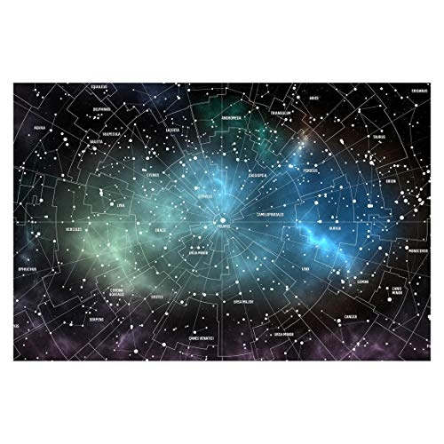 Tapete selbstklebend - Sternbilder Karte Galaxienebel - Fototapete 190 x 288 cm