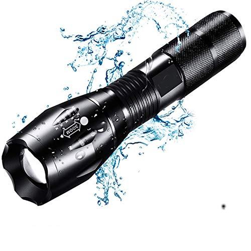 ZZJ LED Tactique Lampe De Poche, 8000 Lumen XML T6 LED Lampes De Poche, Portable/Résistant À l'eau/Zoomable/en Cas d'urgence Camping Randonnée