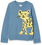 Amazon Essentials Suéter de Cuello Redondo para niñas Pullover-Sweaters, Gato Azul, 8 años
