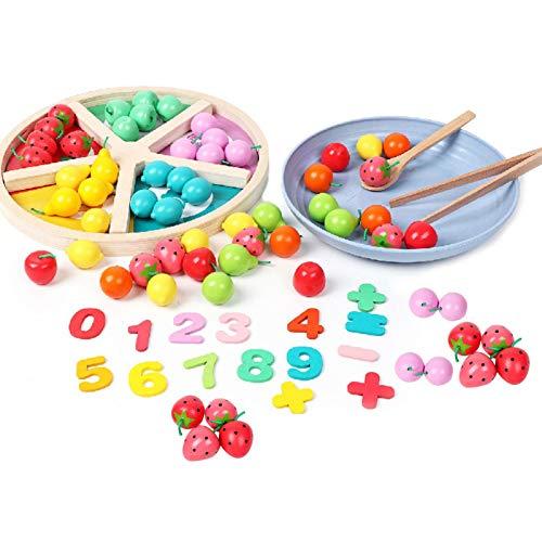 Wenhe Tablero de ajedrez clasificación juguete fruta color reconocimiento educativo juguete creativo y educativo para niños