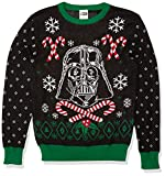 Star Wars Men's Ugly Christmas Sweater, Vader&Candy Canes/Black, Large