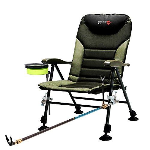 Westfield Outdoors Chaise de pêche multifonction qui peut soulever la hauteur et ajuster l'angle du dos.