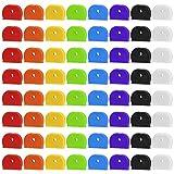 Cubierta de Llave Tapa, 64 Piezas Colorido Tapa de Llave Flexible Marcadores de Llaves para Facilitar la Identificación de Las Llaves de Las Puertas, 8 Colores
