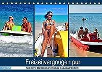 Freizeitvergnuegen pur - Mit dem Tretboot an Kubas Traumstraenden (Tischkalender 2022 DIN A5 quer): Tretboot-Touren an der kubanischen Kueste (Monatskalender, 14 Seiten )