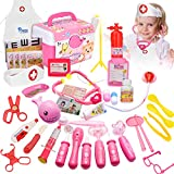 QJXX Doctor Kit for Kids 47 Pcs Realistic Medical Kit Playset Pretend Doctor Playset with Electronic...