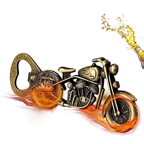 Vintage Motorbike Bottle openers, GOOKUURL Motorbike Beer Opener,Metal Motorbike Bottle Opener for bar Parties, Gadget for Men Gifts, Motorbike Gifts for Men (Bronze)