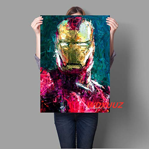 Xin Yao Store Film Avengers Iron Man Captain America Poster in Stile Vintage Manifesto di Alta qualità Decorazione Domestica Wall Art Canvas Painting (Senza Cornice) 50X70 Cm (N : 993)