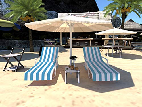 Microfiber Beach Towel Cover,Lounge Chair Cover,Outdoor Chaise Lounge Chairs and Recliners Cover Sun Lounger with Pockets for Pool,Hotel,Vacation,Sunbathing Fast Drying Terry (Y19)