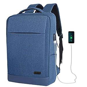 51Q4rFz2s1L. SS300  - TECOOL Mochila para Portátiles 15,6 Pulgadas, Impermeable Mochila Daypacks con Puerto de Carga USB para Hombre Mujer…
