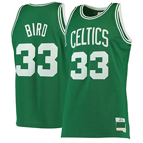 Camiseta transpirable verde LarryBird resistente #33 Home Basketball BostonCeltics Jersey uniforme chaleco de competición chaleco deportivo camisetas