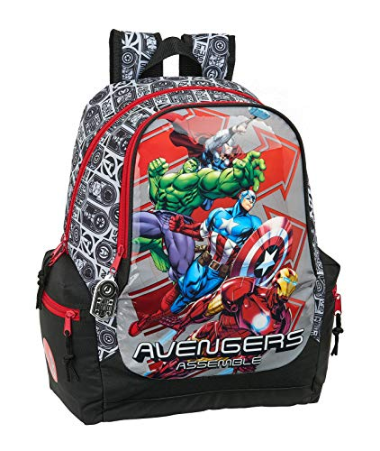 safta 612079662 Mochila Grande Adaptable a Carro Avengers, Multicolor