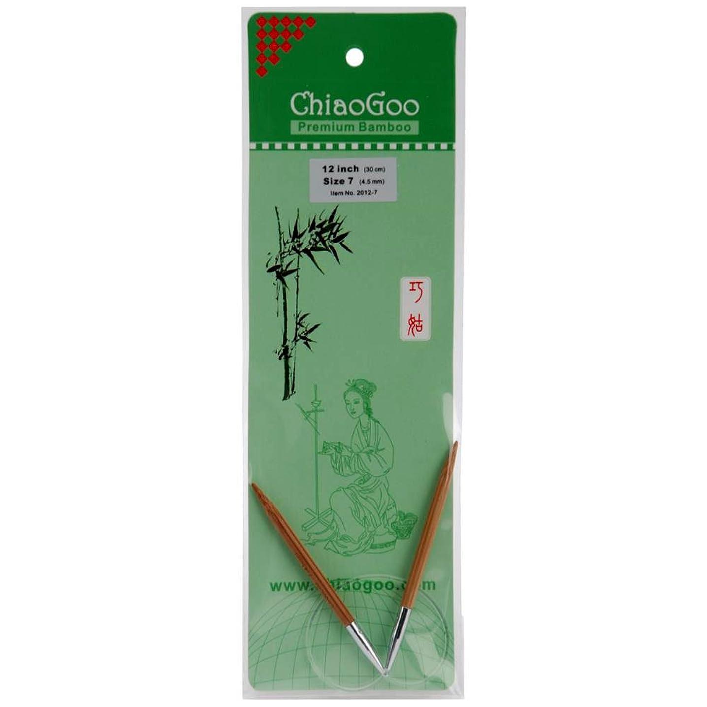 ChiaoGoo Circular 12-inch (30cm) Bamboo Dark Patina Knitting Needle; Size US 5 (3.75mm) 2012-5
