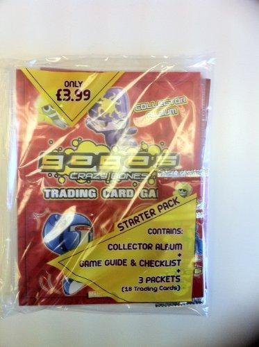 Magic Box Int. Crazy Bones Gogos Series 1 Power Starter Pack Incluye álbum de coleccionista, guía de Juego con Lista de comprobación 3 Paquetes