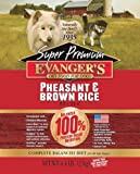 Premium pheasant and brown rice dog food from Evangers