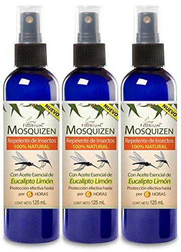 Mosquizen (3 PACK) - Repelente Natural Para Mosquitos 125 ml c/u Auténtica Aromaterapia Florium