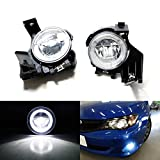iJDMTOY Xenon White LED Daytime Running Light Fog Lamps Compatible With 08-11 Subaru Impreza WRX Sedan Wagon, (6) CREE XP-G LED Lights as Halo Ring DRL & (1) 10W CREE XB-D LED Light as Fog Light