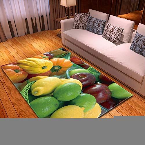 Teppiche für Wohnzimmer Weicher Kurzflor Designer rutschfest waschbarer Vintage moderner groß-klein Home Kinder Rugs Zitronenapfel für Schlafzimmer,Kinderzimmer und Arbeitszimmer-160x230cm