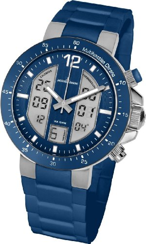 Jacques Lemans Herren-Armbanduhr XL Analog Digital Quarz Silikon 1-1726C