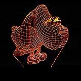 SHJDY Perro Ojo Grande-Pequeña Luz Nocturna,Luz De Reposo 3D,Flash Led,Control Remoto,Fuente De Alimentación Usb,Adecuada Para La Decoración De La Habitación,Regalo Para Niños