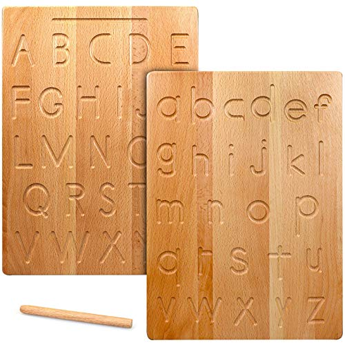 Wooden Alphabet Tracing Board A to Z