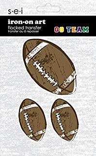 SEI 3.35-Inch by 5-Inch 3 Footballs Iron on Transfer, 1 Sheet