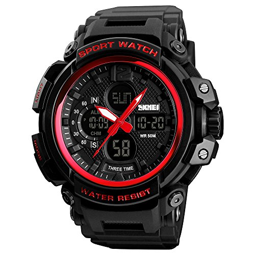 Mens Sports Digital Watches Big Face LED Back Light Chronograph Waterproof Alarm Wrist Watch for Boys