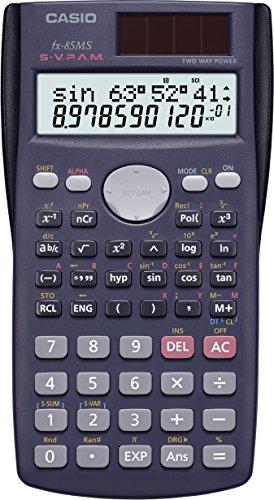 CASIO FX-85MS Calcolatrice tecnico scientifica 10 + 2 ore, display a 2 righe, Design ergonomico
